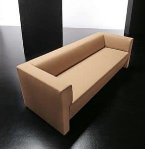 Toffee 3p, Divanetto semplice 3 posti, con struttura in legno