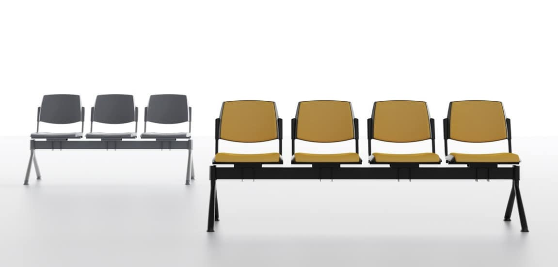 Poltroncine Per Sale Dattesa.Seduta Su Barra Per Sale D Attesa In Polipropilene Idfdesign