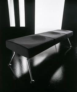 Ypsilon panca, Panca per sala attesa, in metallo e poliuretano ignifugo