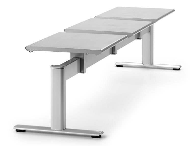 ZERO 225 B3, Panca in metallo con 3 sedute ideale per stazioni