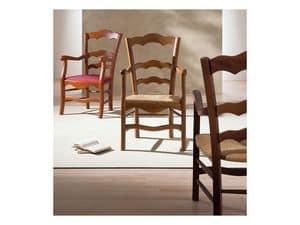 Immagine di NONNA 44 AP, sedie legno verniciata con braccioli
