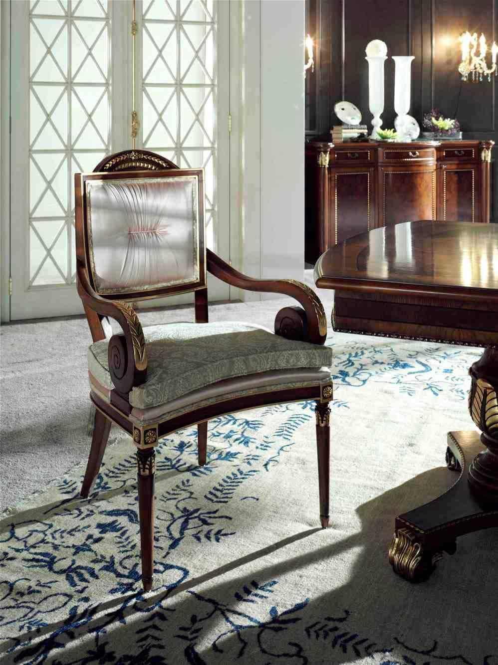 Capotavola classico di lusso struttura in faggio massello - Sedie capotavola ...