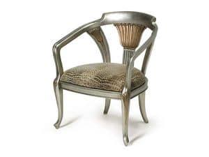 Immagine di Art.122 poltrona, sedia con braccioli imbottita