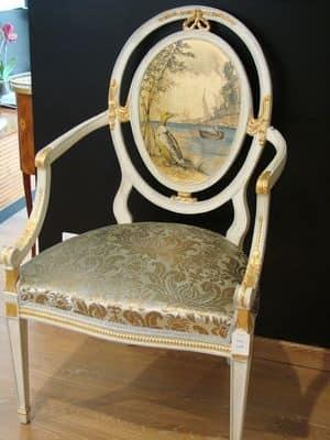 Immagine di Art. 216, sedie con braccioli imbottite