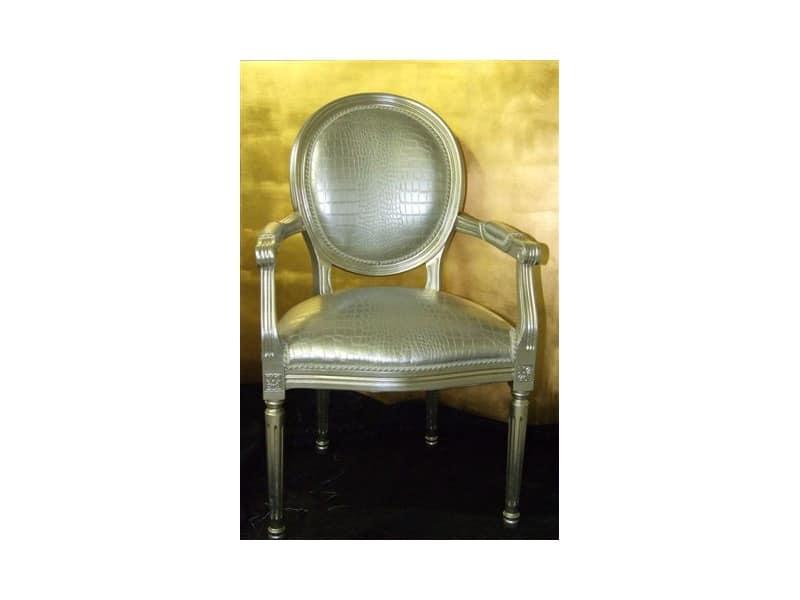 Sedia Con Braccioli Schienale Ovale Per Ingresso Idfdesign