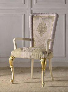 Art. 891/LP, Sedia da pranzo di lusso con decori in foglia d'oro