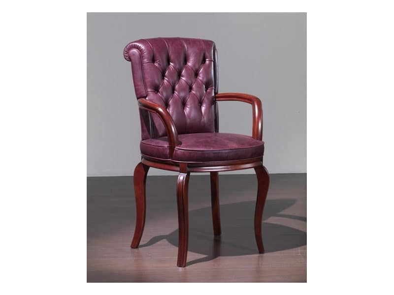 Sedie con braccioli in stile per albergo idfdesign for Poltroncine eleganti