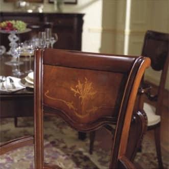 Canova sedia capotavola, Sedia capotavola, intagliata e intarsiata, in noce