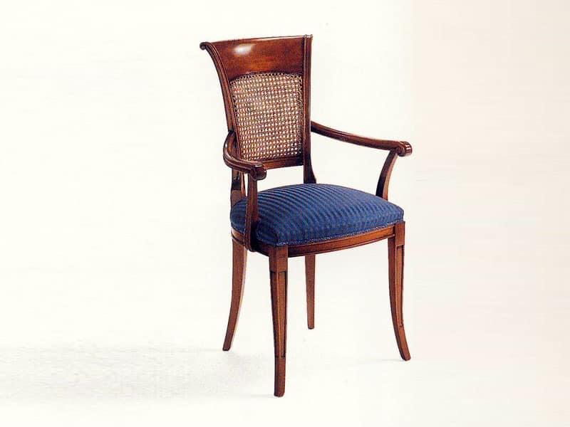Sedia capotavola in stile classico di lusso imbottita idfdesign