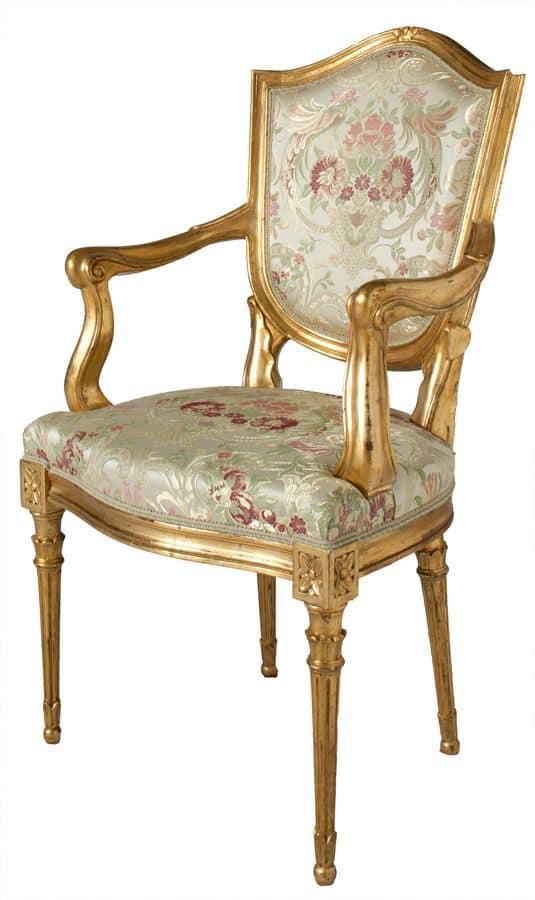 Sedia capotavola in stile veneziano imbottita idfdesign - Sedie capotavola ...