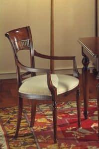 Voltaire sedia capotavola, Sedia capotavola, satinata con cera, per ristoranti