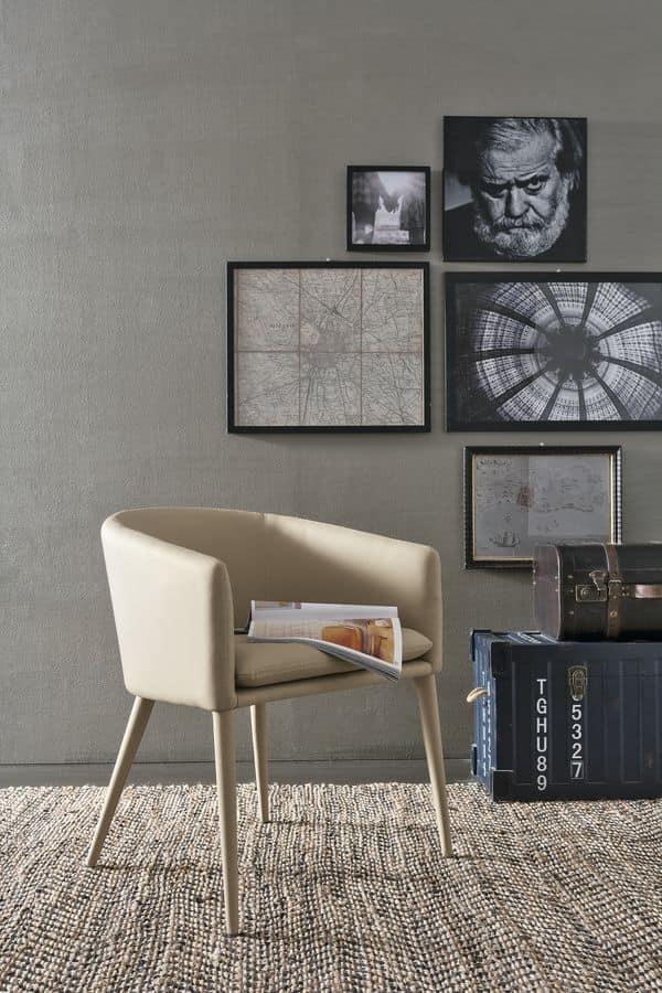 Poltrona moderna ideale per bar e appartamenti idfdesign for Poltrone moderne amazon