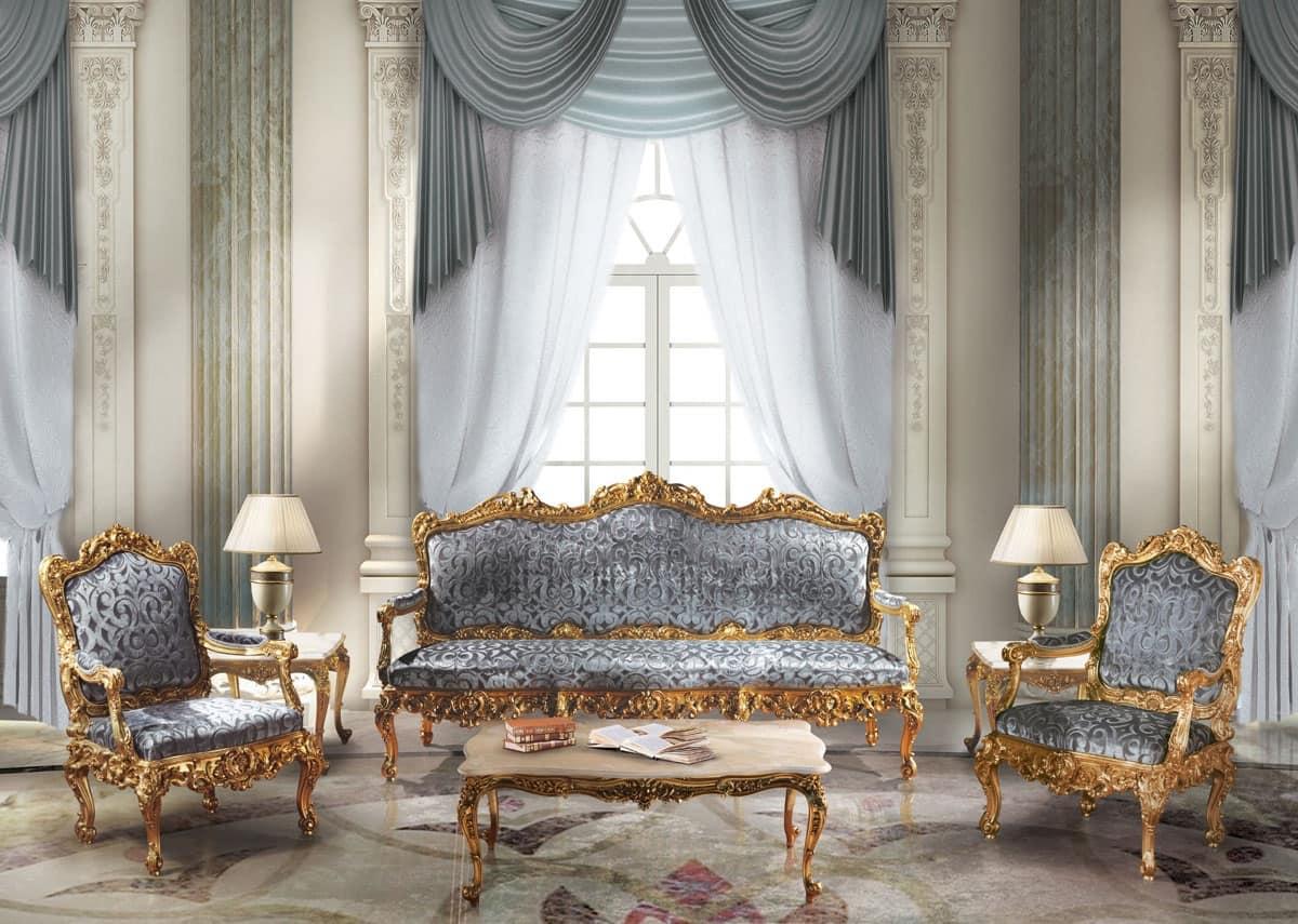 Imbottiti divani divani classici ed in stile in stile e classici di lusso idfdesign - Divano classico lusso ...