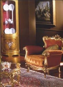 3195 POLTRONA, Poltrona imbottita per salotti classici, poltrona classica per salotto