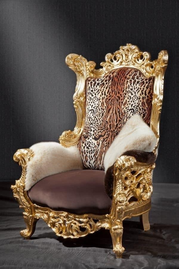 Poltrona e trono in stile New Barocco   IDFdesign