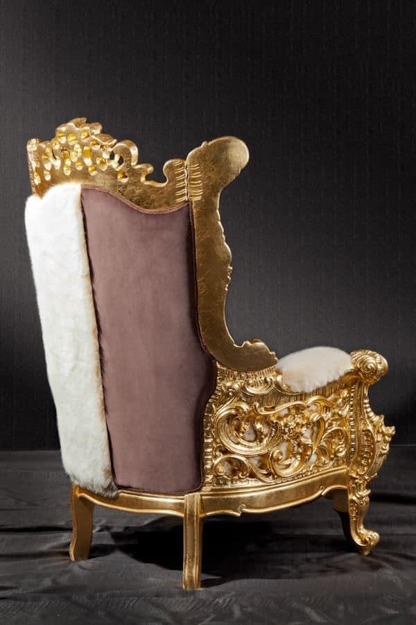 Poltrona e trono in stile new barocco idfdesign - Divani in stile barocco ...