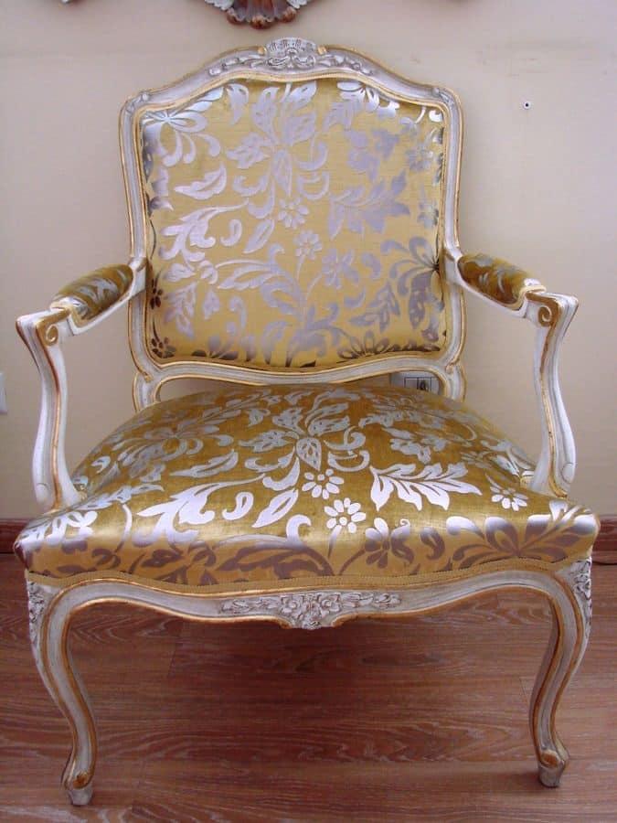 Poltrona classica di lusso per casa in stile luigi xv for Stile casa classica