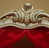 Art.535 poltrona, Poltrona in stile classico di lusso, con braccioli
