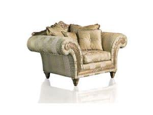 Art. IM 21 Imperial, Poltrona con ampia seduta, elegante rivestimento sfoderabile