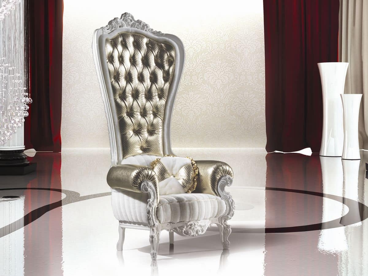 B/110/1 The Throne, Poltrone lussuose avvolgenti per Salotto