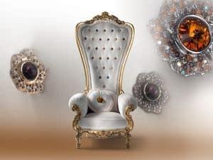 B/110/6 The Throne, Poltrona in legno, per residenza lussuosa