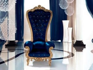 B/110/7 The Throne, Poltrona imbottita, personalizzabile, per Ville