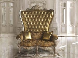 B/120/4 The Throne, Ampia poltrona classica per lussuose hall e ristoranti