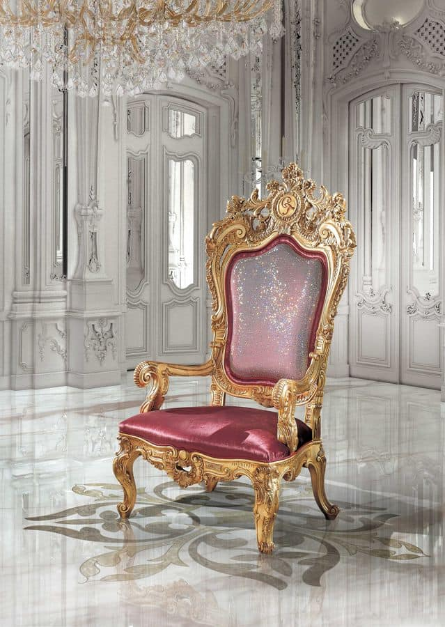 B/94/1 The Throne, Poltrone riccamente decorate per albergo