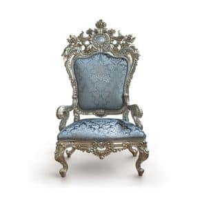 B/94/4 The Throne, Poltrona con dimensioni maestose in legno massiccio