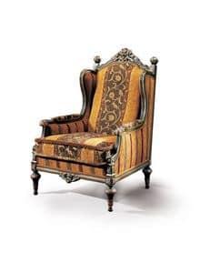Conversation 66, Poltrona classica imbottita, per salotti di lusso