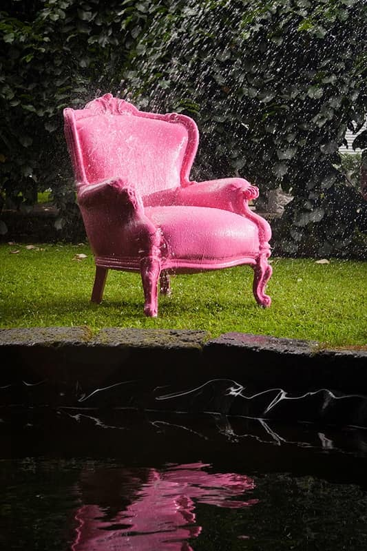 Filippone Outdoor 456, poltrona barocca impermeabile, poltrona resistente alle intemperie, poltrona per esterno Giardino, Terrazzo, Hotel, Piscina