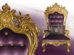 LB/94/3 Liberty, Poltrona trono classico con infinite personalizzazioni