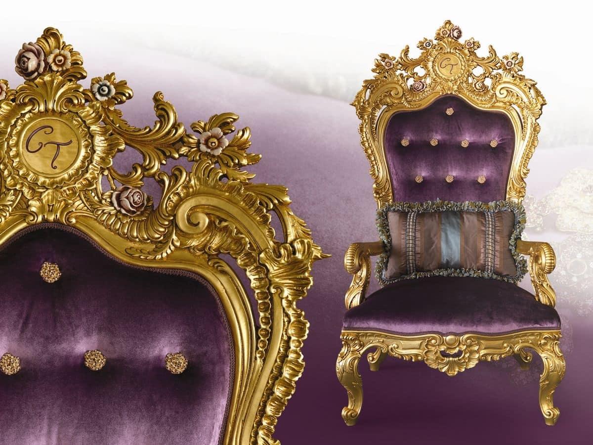 Poltrona trono classico con infinite personalizzazioni for Poltrona liberty
