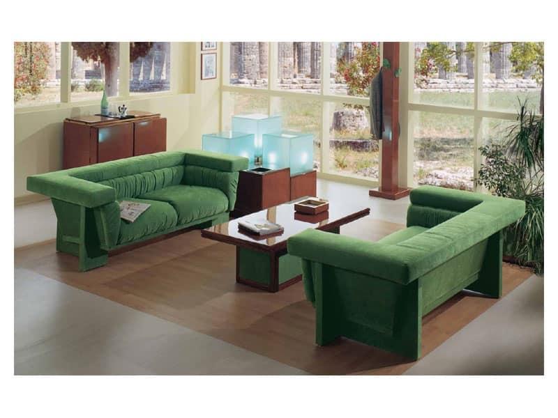 Poltrona rivestimento elegante hall idfdesign - Tavolini poltrone sofa ...