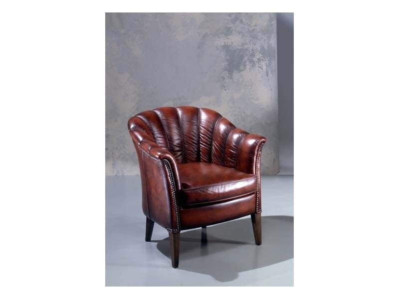 Poltrona classica in pelle imbottitura in poliuretano - Imbottitura divani poliuretano ...