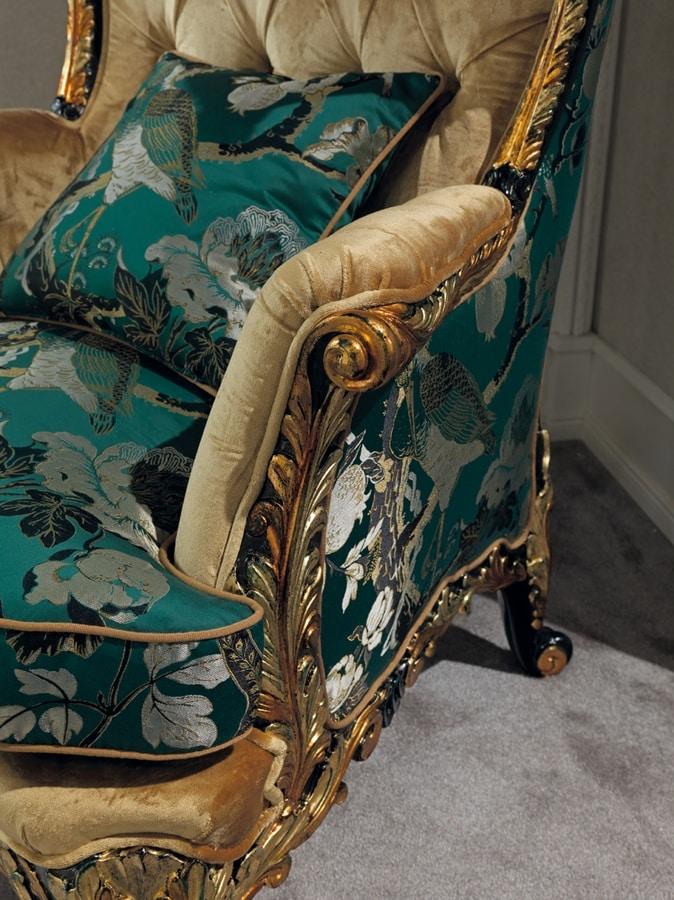 Poltrona 5168, Poltrona bergere classica di lusso