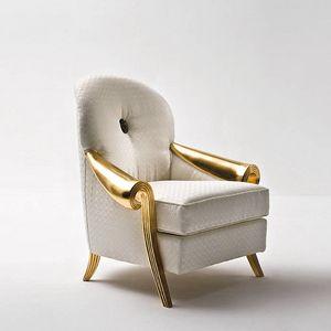 Stresa ST132A, Elegante poltrona in foglia oro