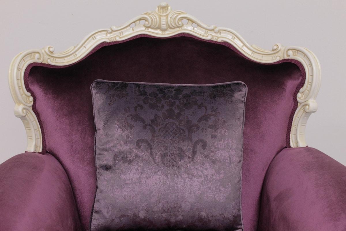 Symphony tessuto, Poltrona stile rococò di lusso