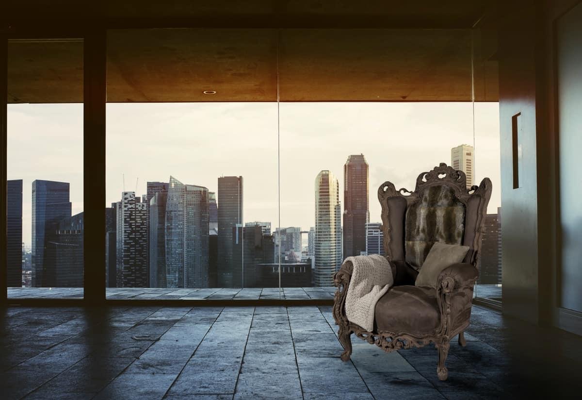 Poltrona in stile ideale per alberghi di lusso idfdesign