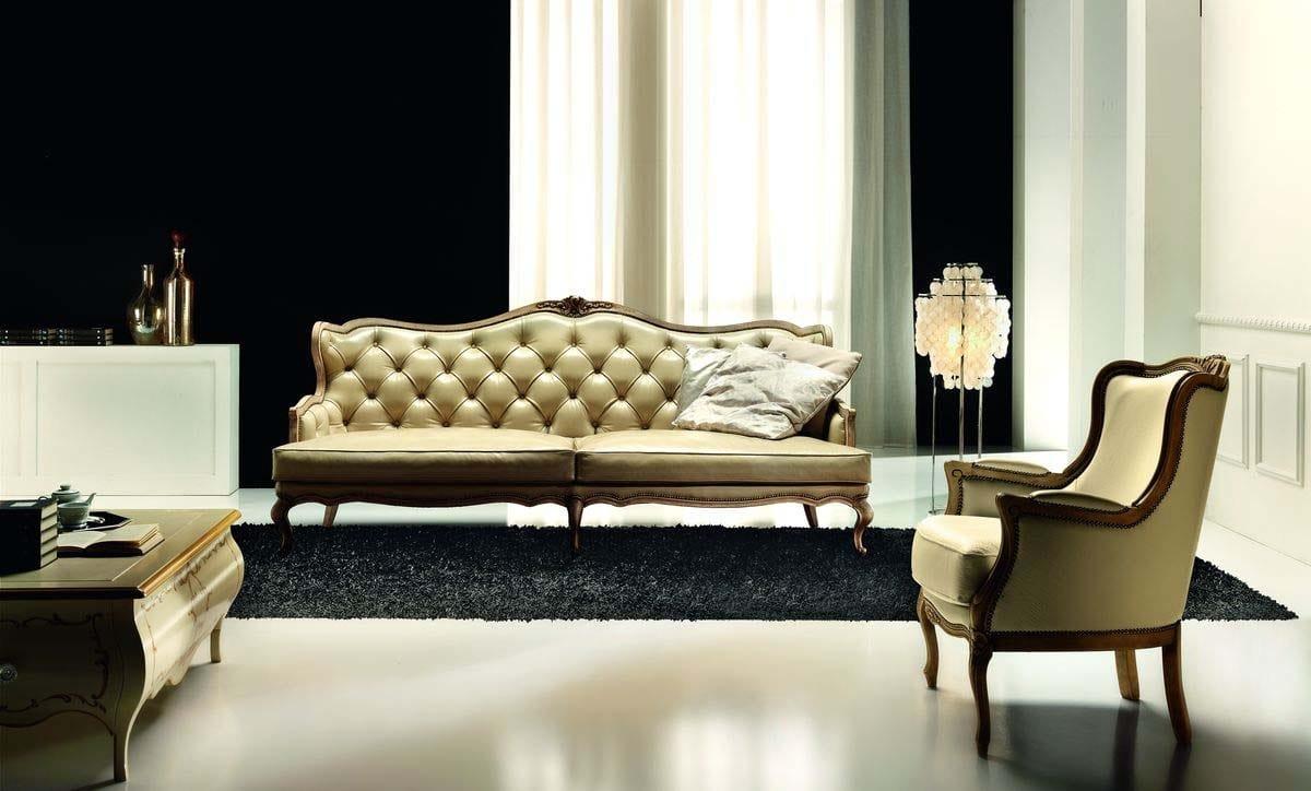 Poltrona classica per ambienti glamour ed eleganti idfdesign