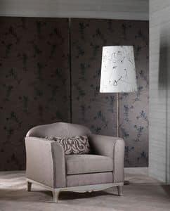 DORIAN poltrona 8557A, Poltrona elegante, ottima rifinitura, per salotto classico