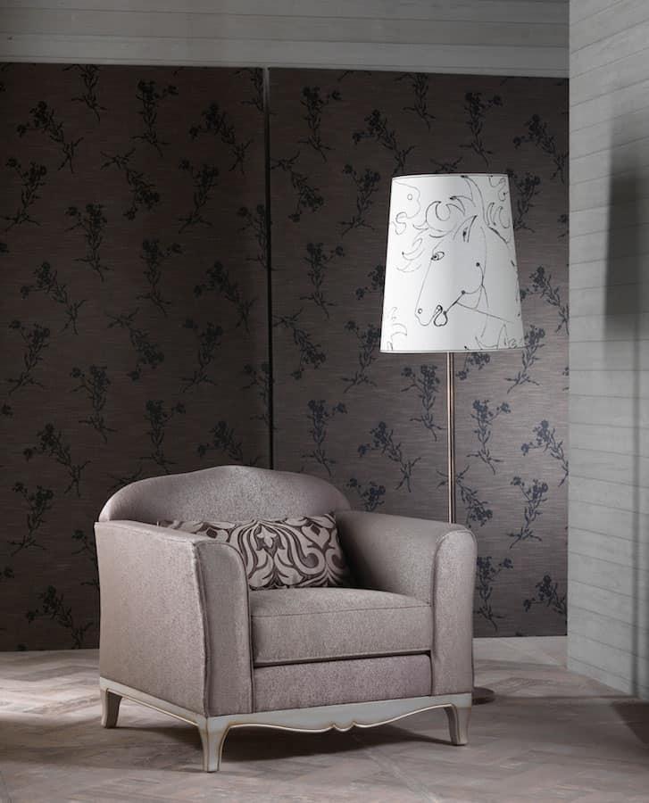 Poltrona elegante ottima rifinitura per salotto classico for Salotto elegante
