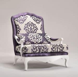 ETOILE poltrona 8651A, Poltrona decorata con forme arrotondate, personalizzabile