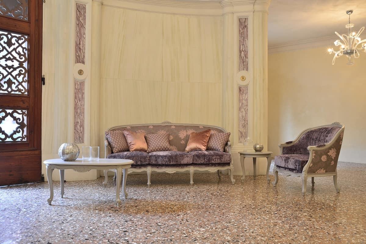 FRIDA poltrona 8310A, Poltrona in stile classico, in faggio, per hotel ricchi