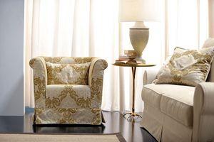 Velasquez, Poltrona dal design tradizionalmente razionale, sobrio ed elegante