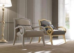 Zara 469 poltrona, Poltrona in legno di faggio, design classico contemporaneo, per salotti e reception