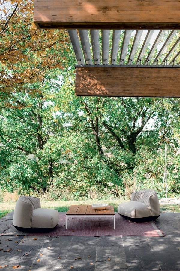 Brioni outdoor armchair, Poltrona lounge da esterno