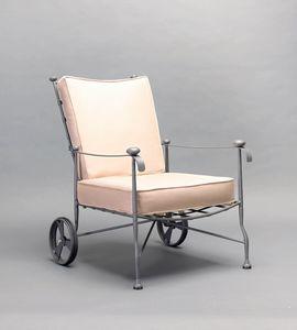 INTRECCIO GF4004AR, Poltrona con ruote per uso esterno
