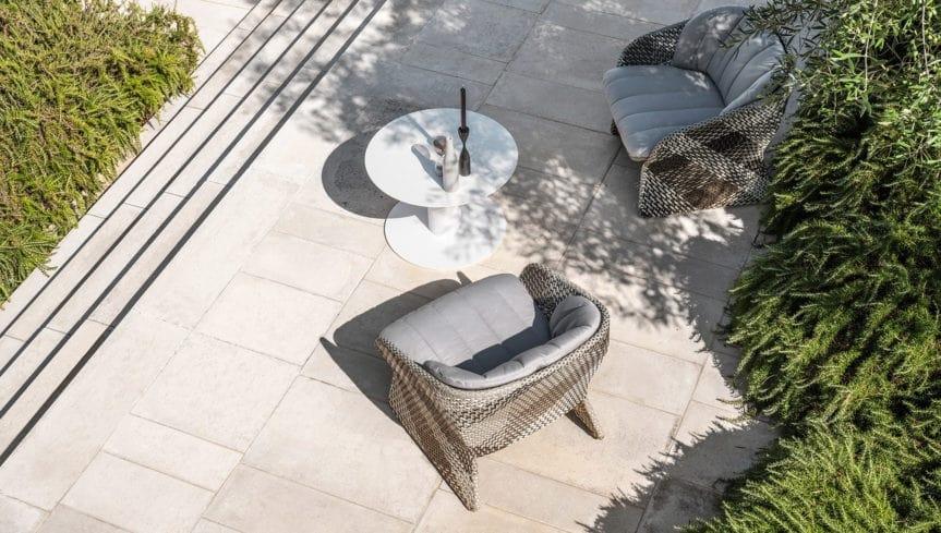Maat poltrona lounge, Poltrona lounge con seduta larga, per esterno