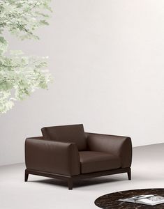 Akita poltrona, Poltrona dalla seduta con dimensioni generose